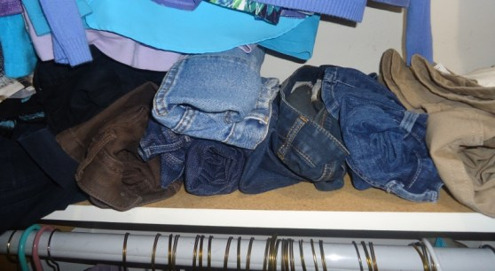 closet organization for skirts & pants
