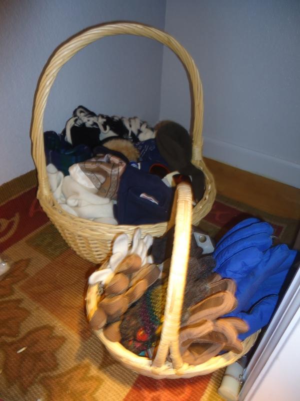 scarf & glove organizing