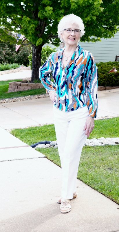 pucci print blouse for the 50's, 60's, & 70's