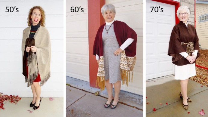 Capes/Ponchos for the 50, 60 & 70 age groups.