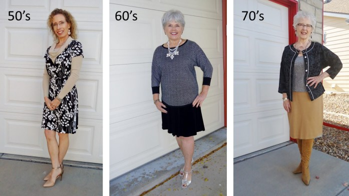 Black & White for the 50, 60, & 70 Year Old Women with metallics.