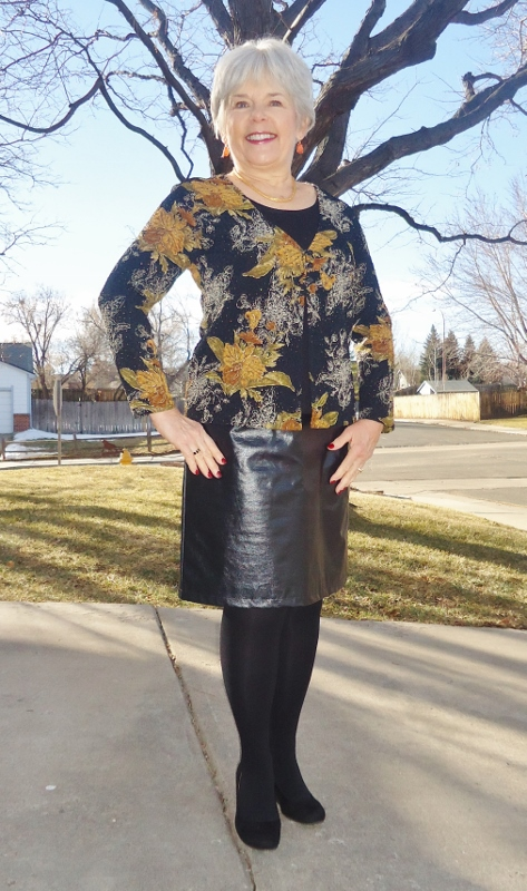 Leather Skirt 2 (With Floral) - Jodie's Touch of Style