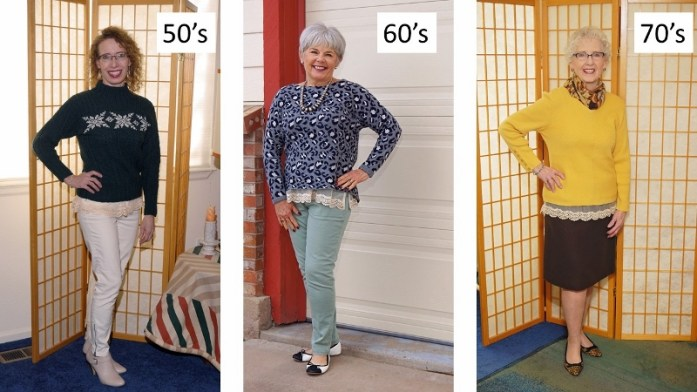 lace extenders for the 50's, 60's, & 70's.