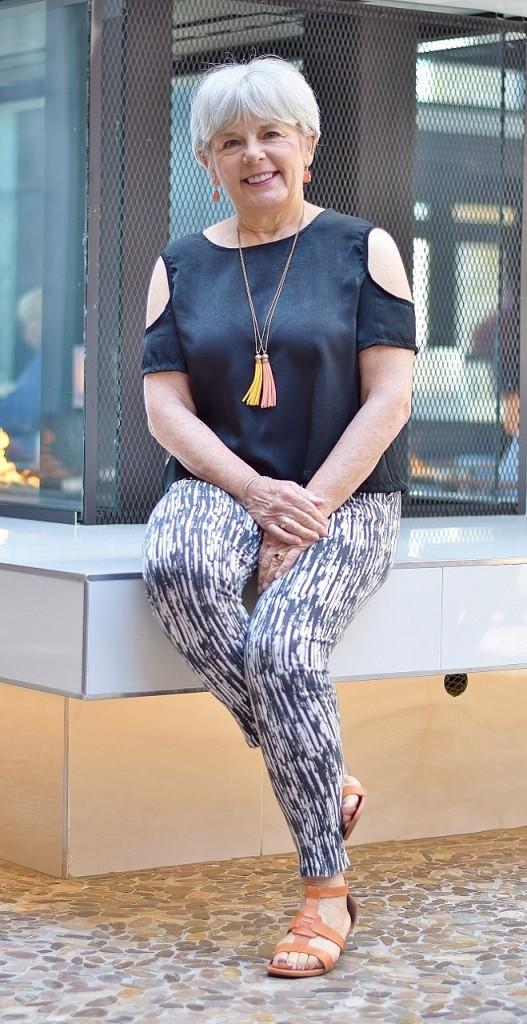 open shoulder trend for women in their 60's.