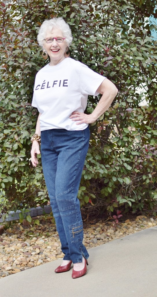 Graphic t-shirt for Women in their 50's, 60's & 70's.