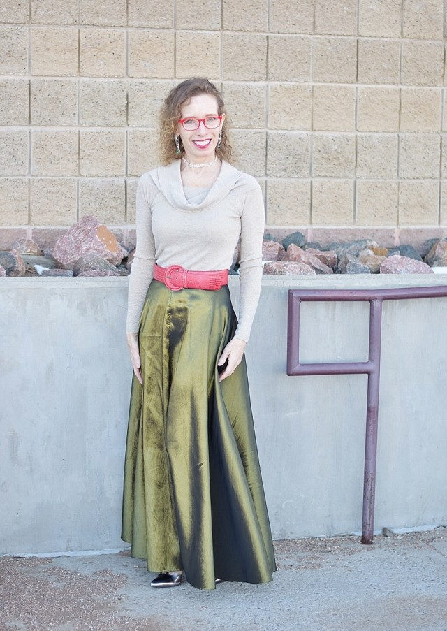 Maxi Skirts Worn for the Winter Months