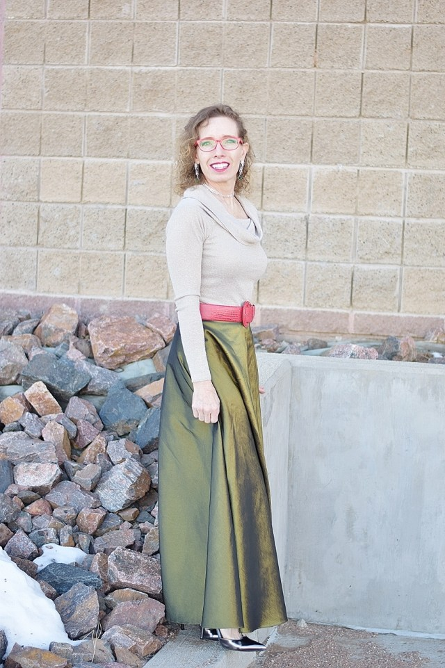 Maxi Skirts Worn for the Winter Months.
