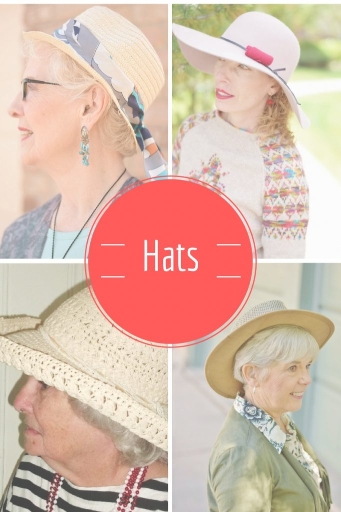 A casual outfit with hats for women over 50