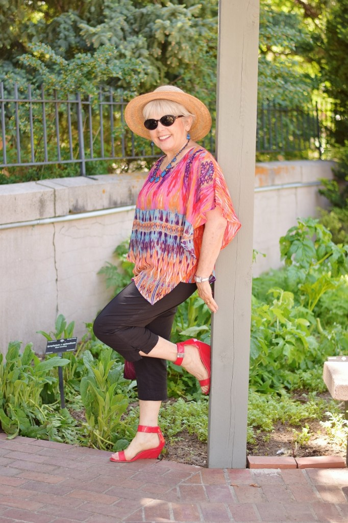 Capris and a flowy Top for Women 60+ and their Summer Event Style