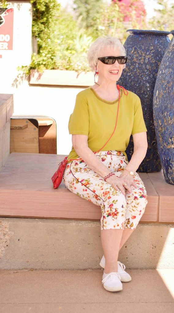 Floral Capris for a Summer Day