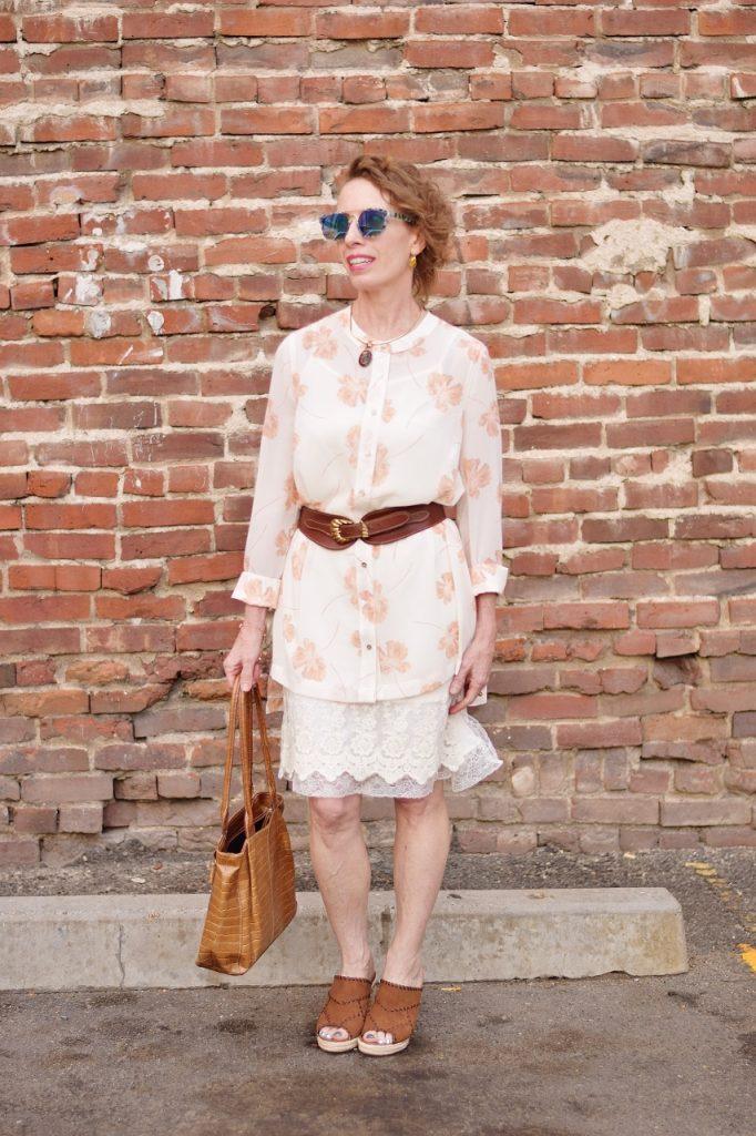 Dress extender & slip & duster