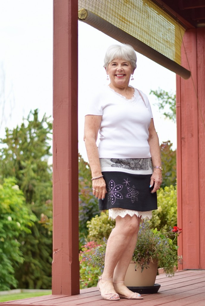 under a skirt is a dress extended for women 60+