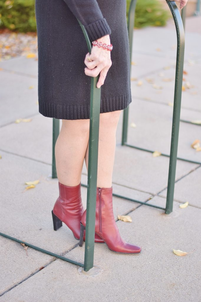 sweater weather and ankle boots