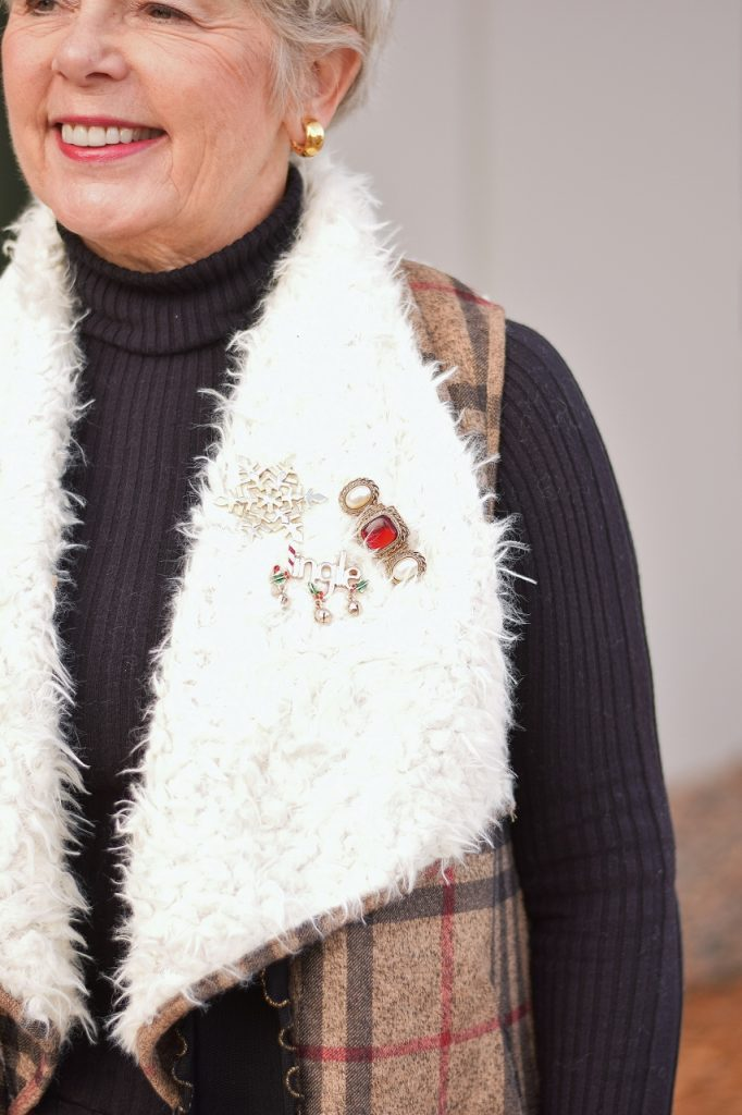 Holiday inspired looks with a fun vest