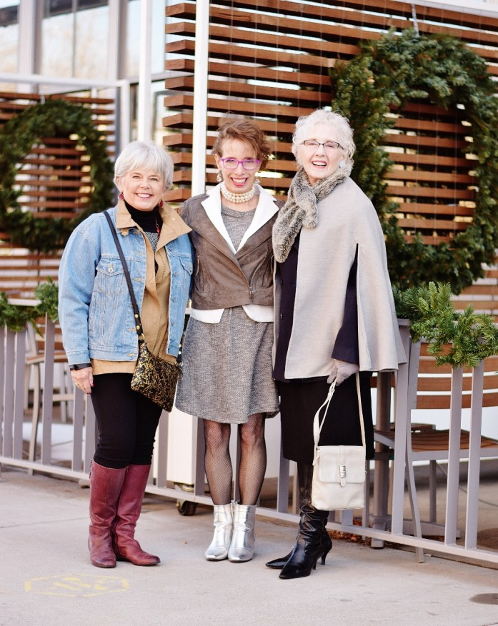 Layering coats for women of 3 generations