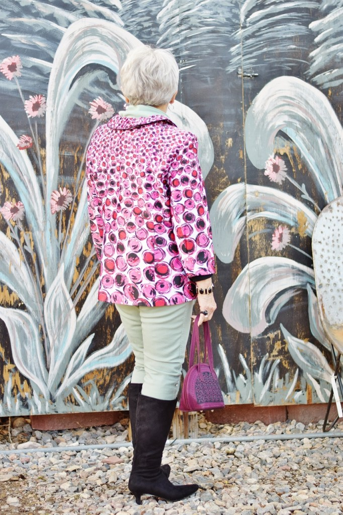 How to style Pink and Green for women in their 60's