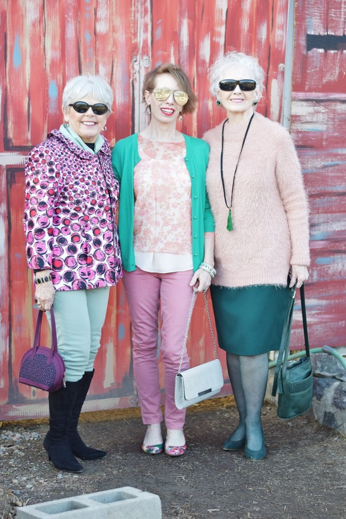Pink and Green for spring fashion