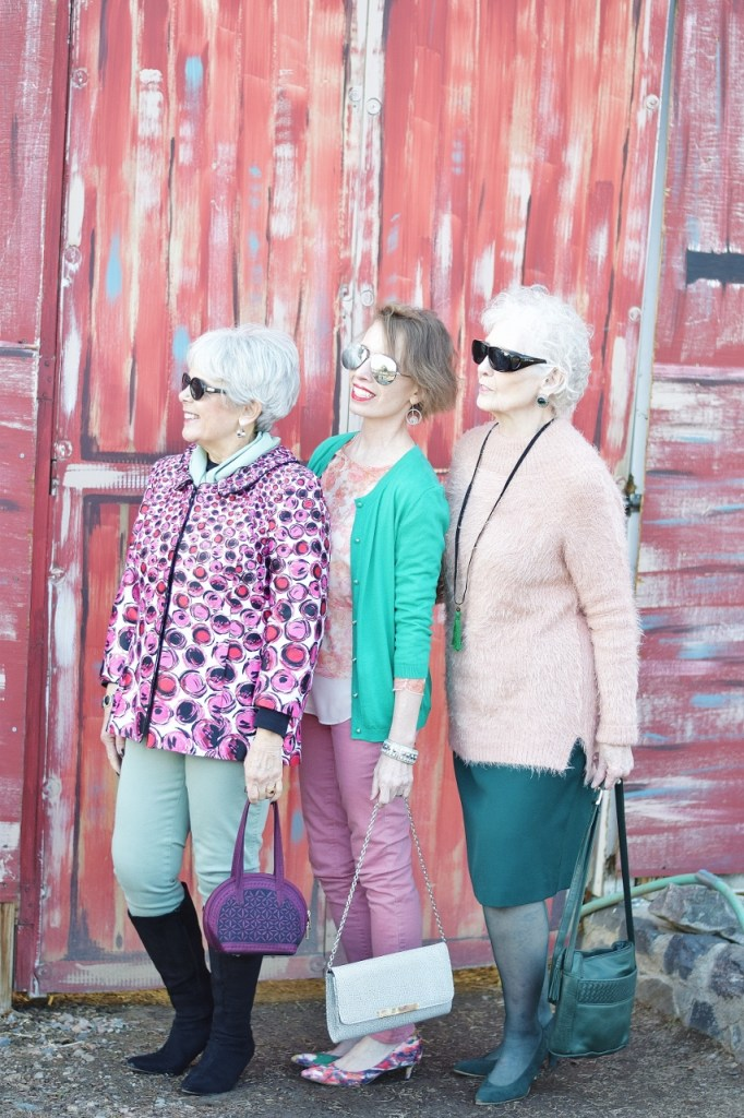 Pink and Green for 3 generations of women