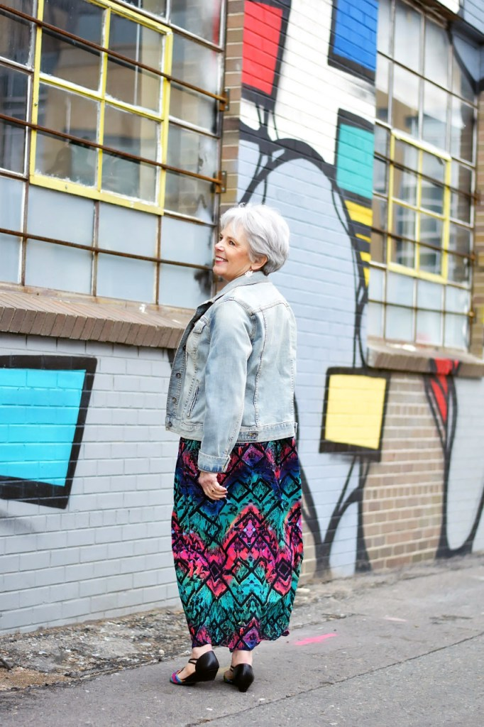 dressing up a denim jacket for senior women