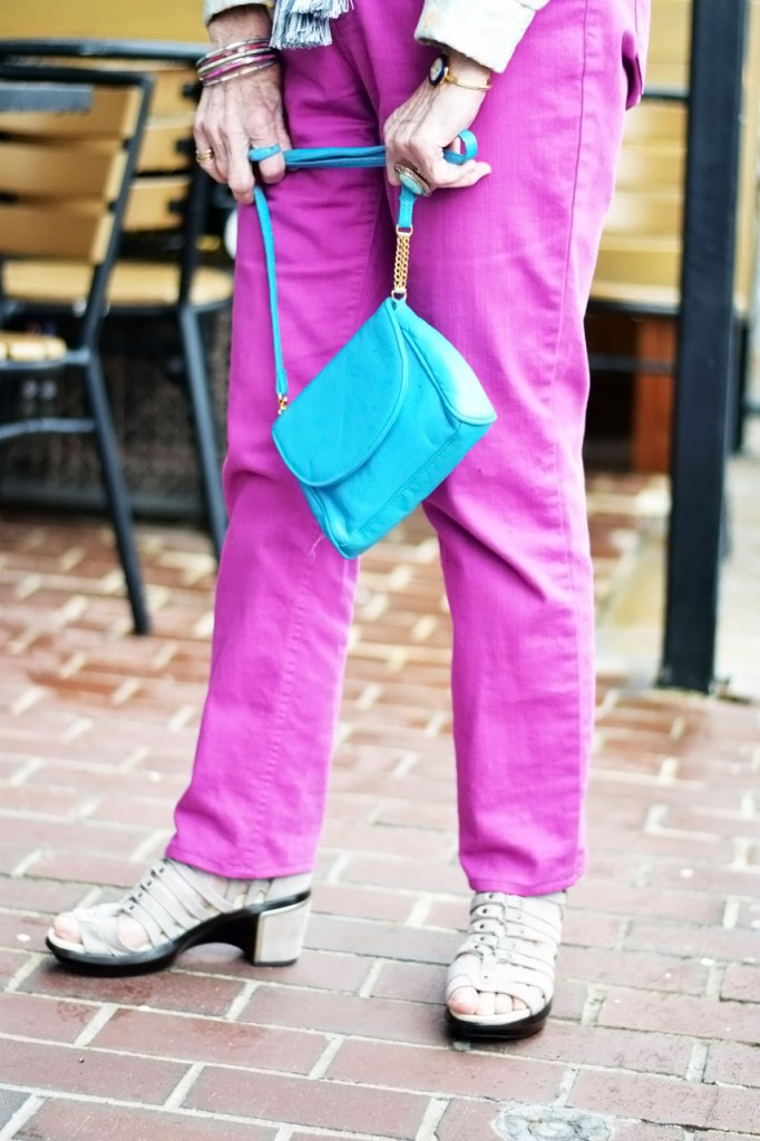 Ways we can be Dressing up denim with pink jeans