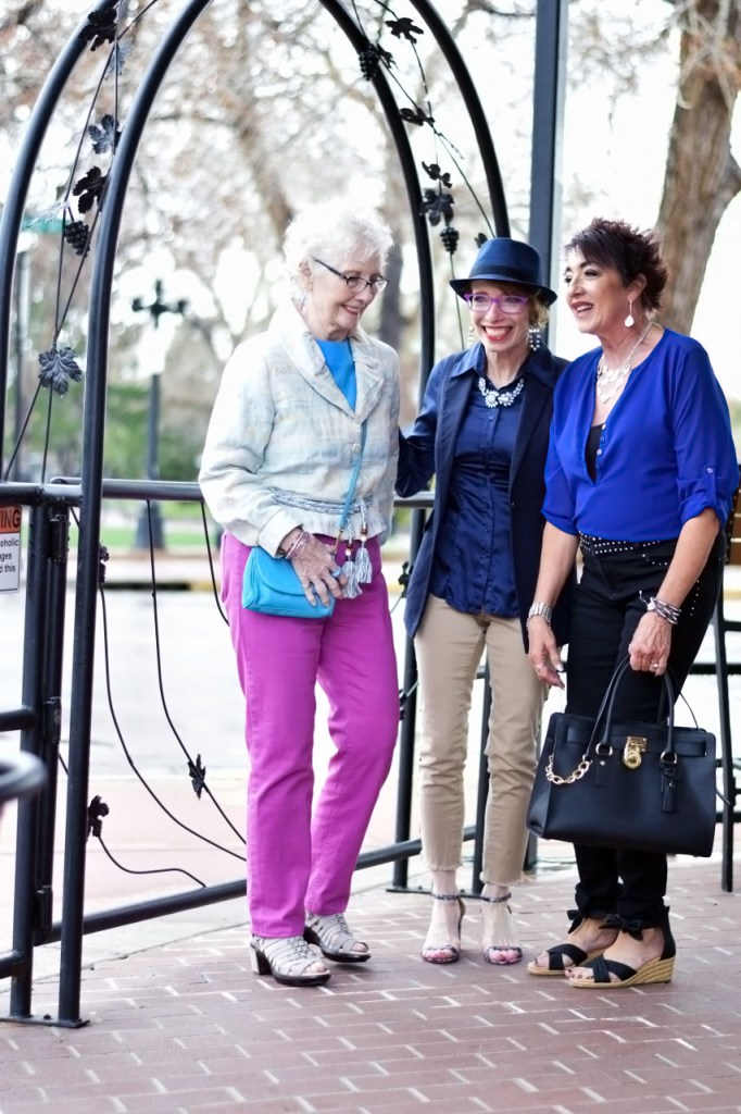 Style with Dressing up denim for older women
