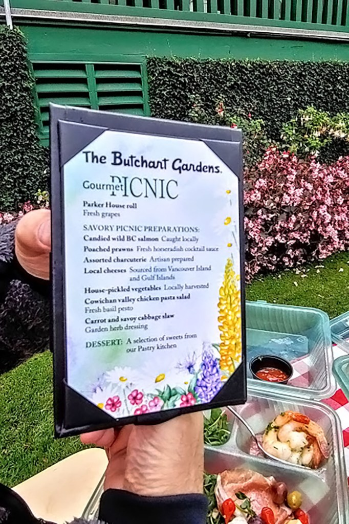 Alaska shore excursions in butchart gardens for our picnic