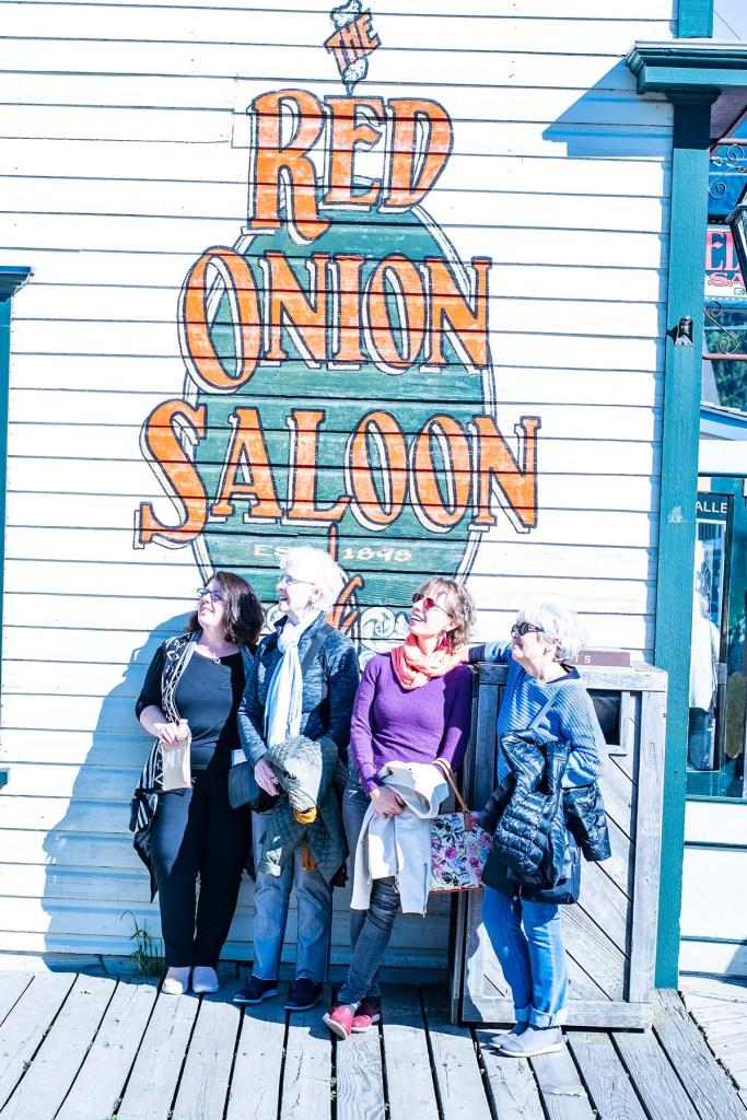 Alaska shore excursions in downtown Skagway