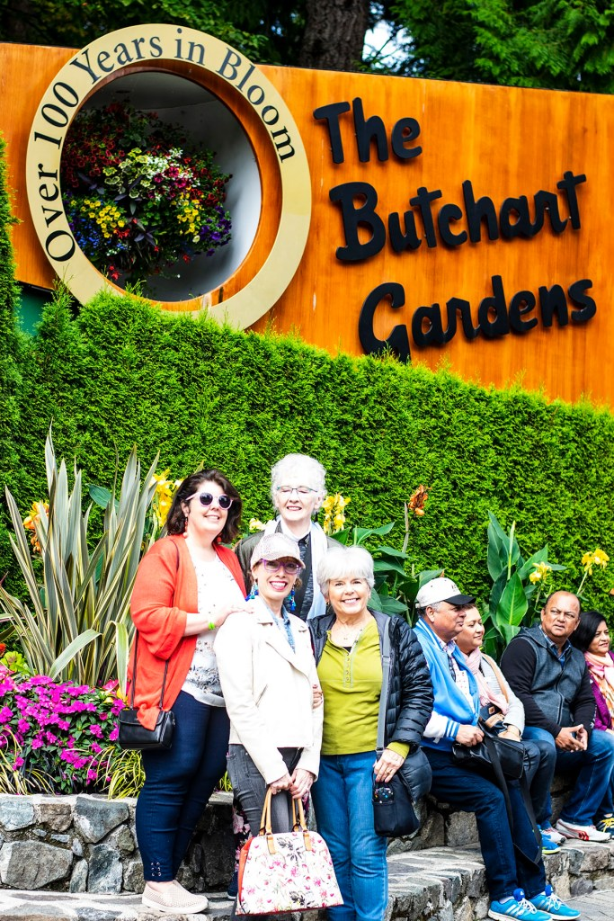 Alaska shore excursions in Victoria at Butchart Gardens for women over 50