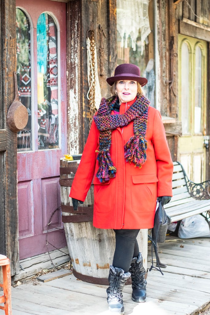 Stylish winter wool coats in red