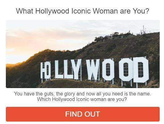 Hollywood icon quiz