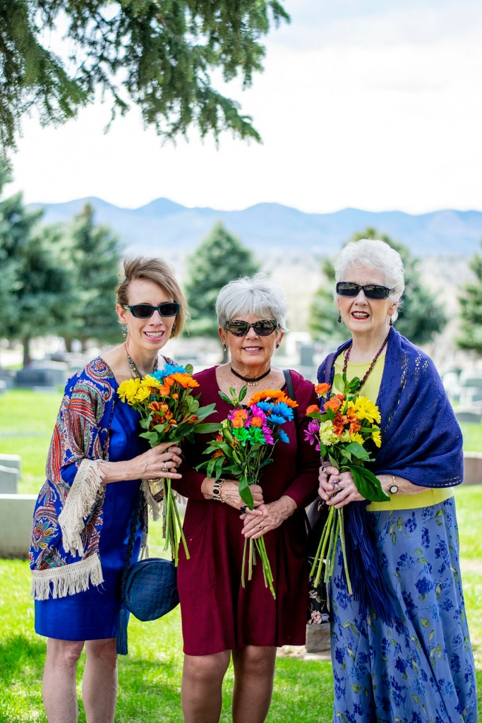 Flowers at the cemetery for women over 50