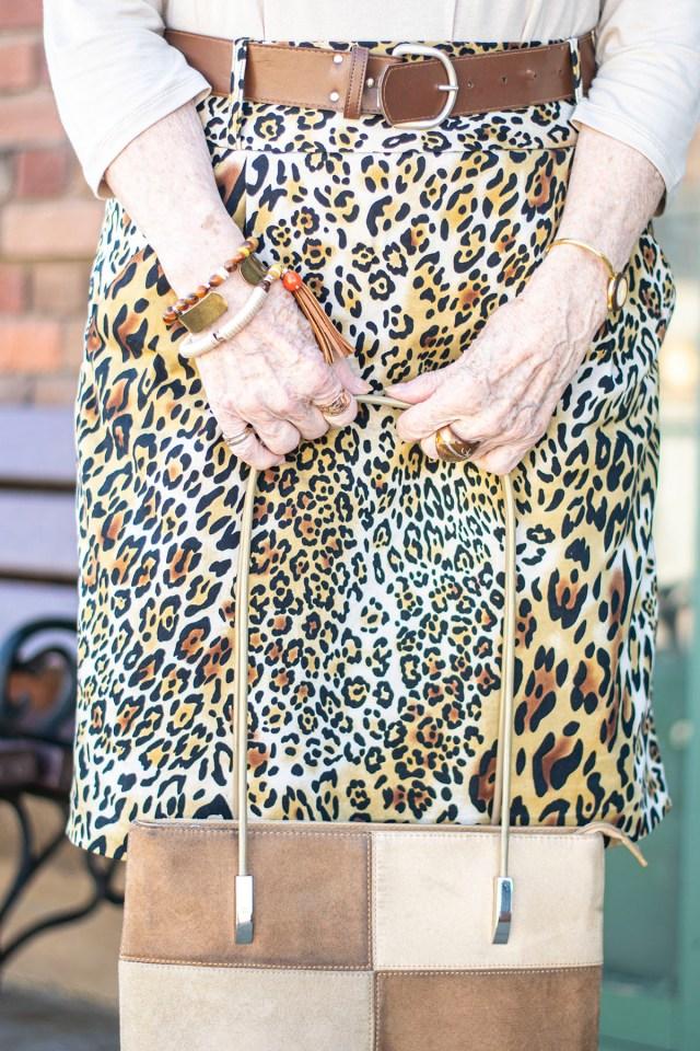 Leopard skirt for older women