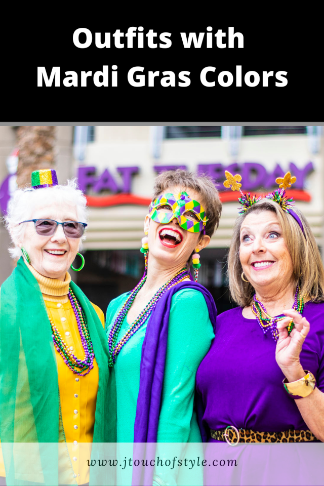 Outfits with Mardi Gras colors