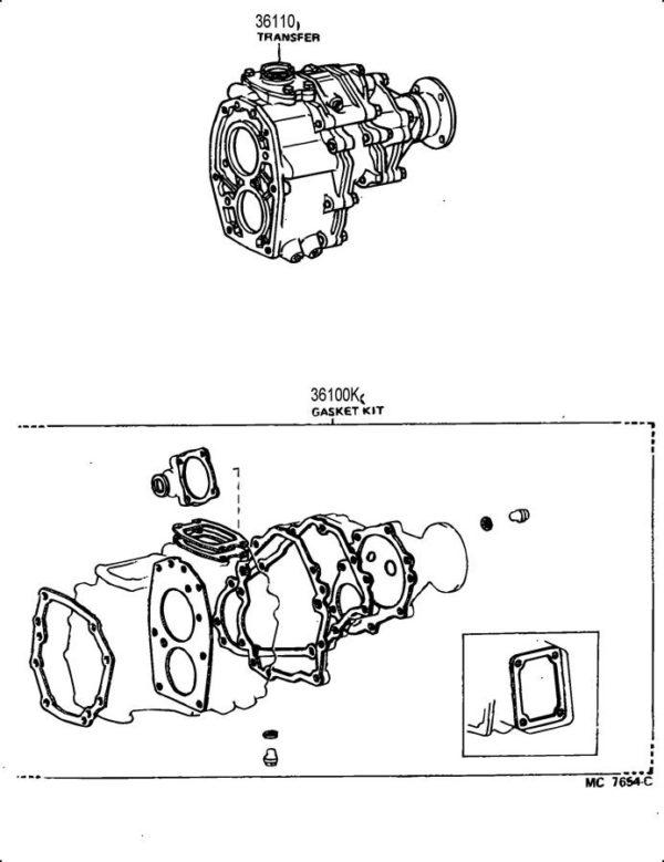 Transfer Case Overhaul Gasket Kit for Toyota PickUp Truck