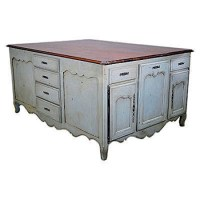 Country French Kitchen Island - J. Tribble