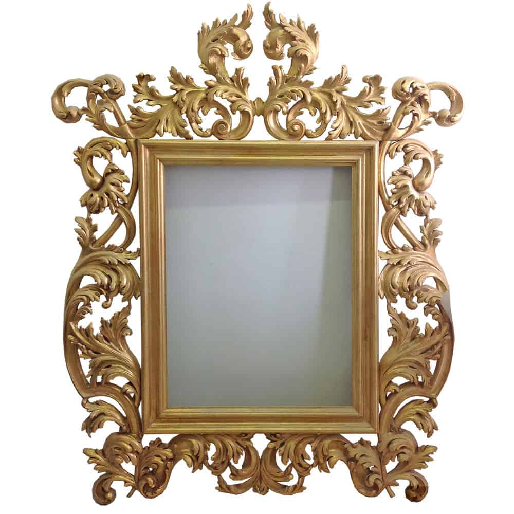 gold leaf carved mirror