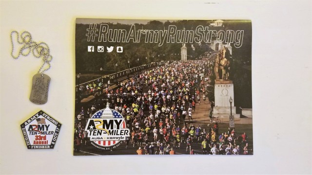2017 Army Ten Miler Medal Calendar and Tags