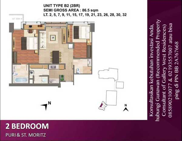 Gallery West Residence Jual Apartemen