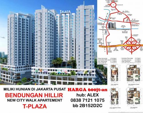 Tplaza Apartement Mall Bendungan Hilir Tipe Unit T