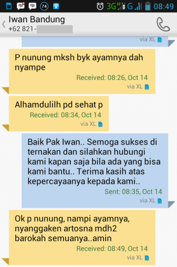 Testimonial Bapak Iwan Bandung