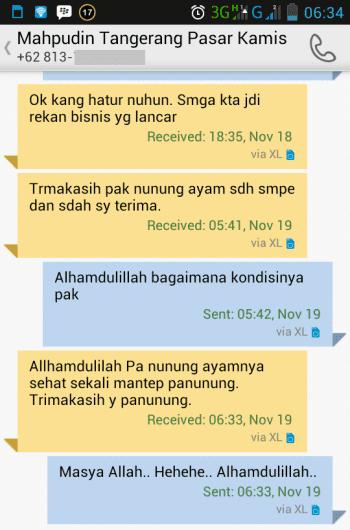 Testimonial Bapak Mahpudin Tangerang