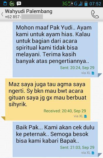 Testimonial dari Bapak Wahyudi Palembang