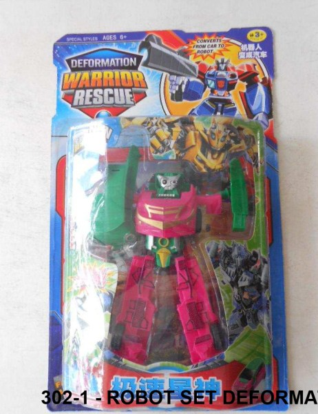 Mainan Anak Robot Set Deformation Warrior Rescue