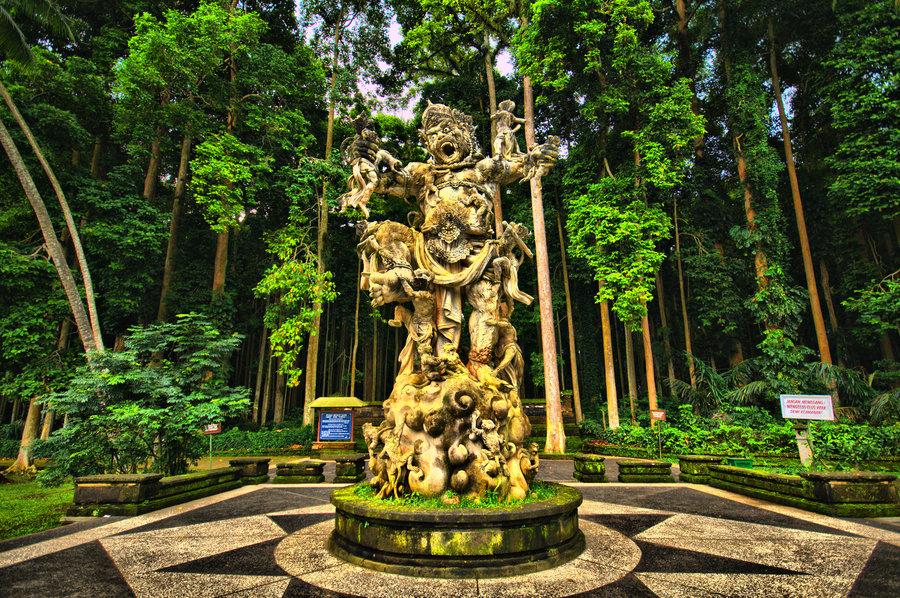 Sangeh monkey forest Badung, Bali