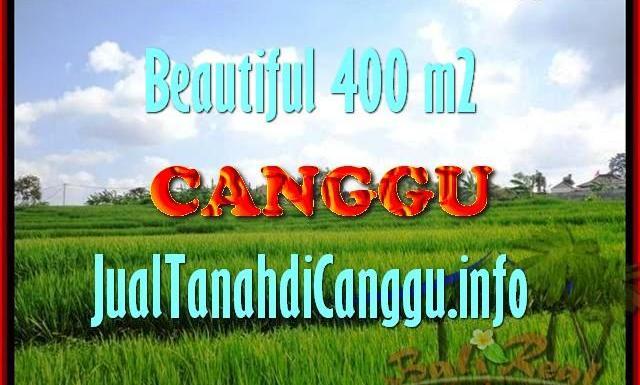 TANAH di CANGGU JUAL MURAH 400 m2 View Sawah, lingkungan villa