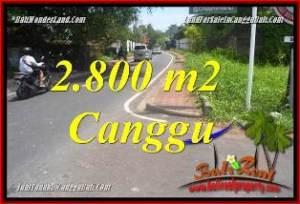 JUAL TANAH MURAH di CANGGU BALI 2,800 m2  LINGKUNGAN VILLA