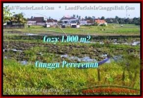TANAH di CANGGU BALI DIJUAL MURAH 1,000 m2 di Canggu Kayutulang