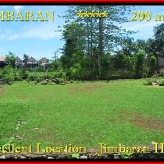 JUAL TANAH di JIMBARAN BALI 200 m2 Lingkungan Villa