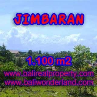 JUAL TANAH di JIMBARAN 1,100 m2 Lingkungan villa