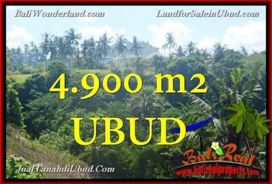 JUAL TANAH MURAH di UBUD 4,900 m2 View Tebing dan sungai